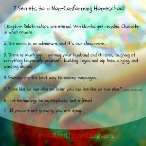 7 Secrets to a Non-Conforming Homeschool