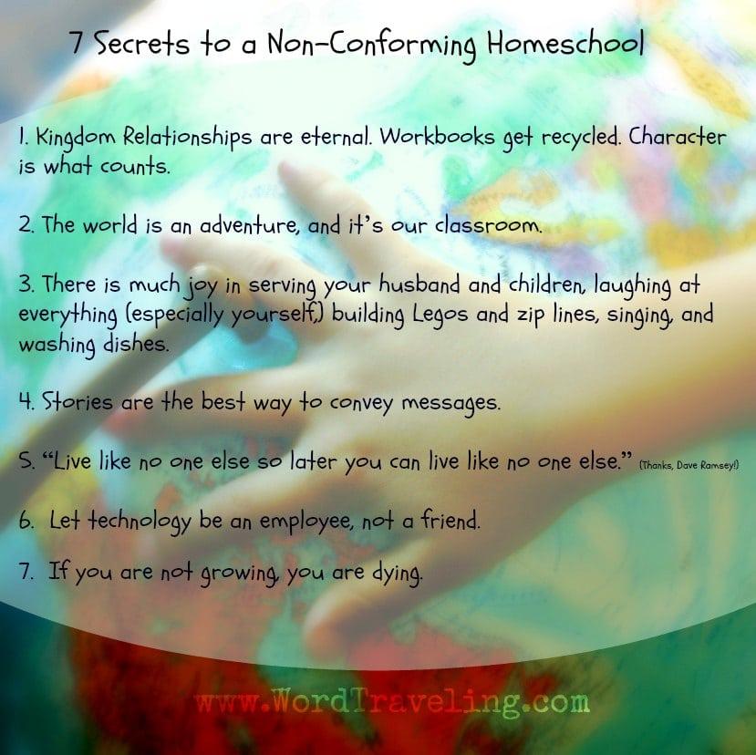 non conforming homeschool