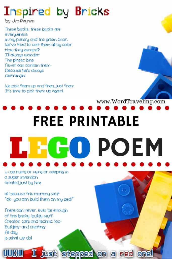 Printable Lego Poem