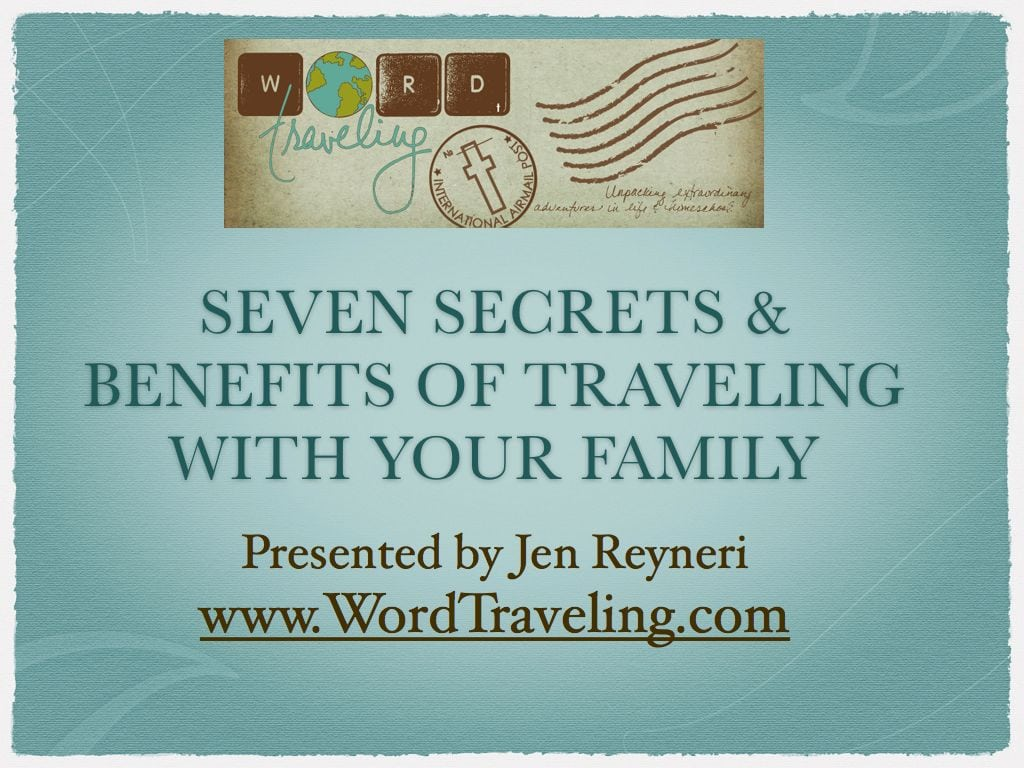 Secrets of Homeschool travel