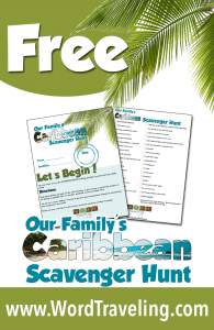 A Caribbean Scavenger Hunt (Part 2) and A FUN & FREE Printable for You!