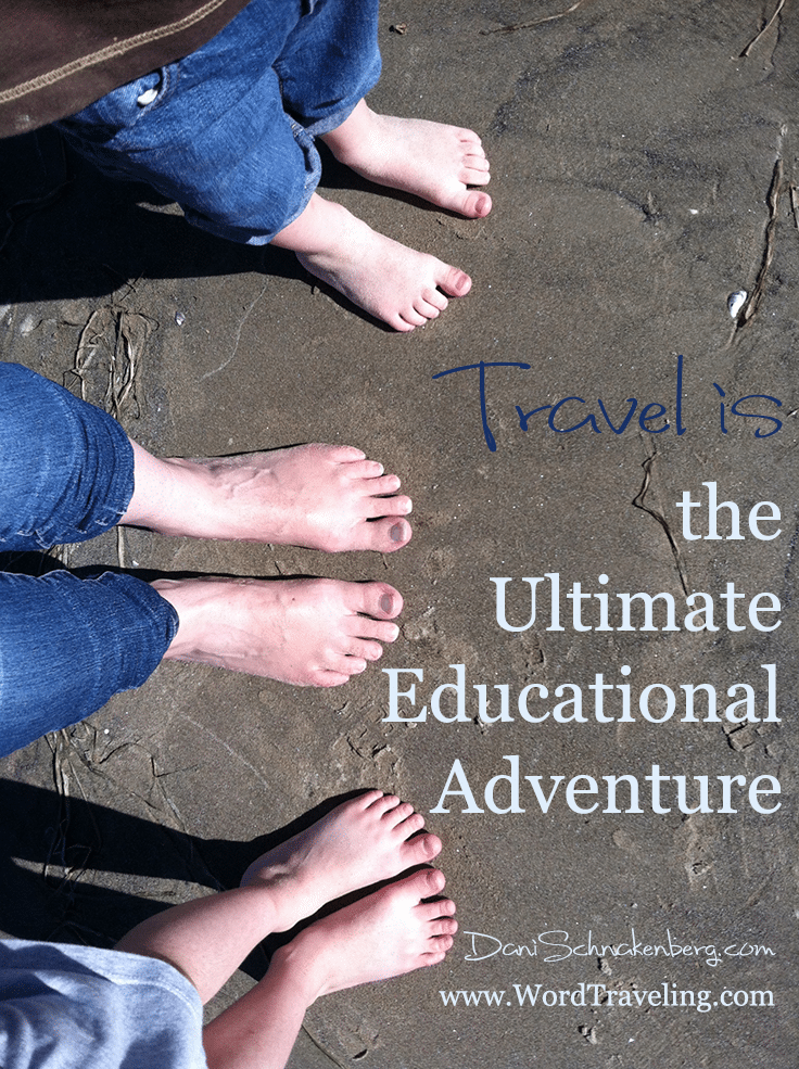 Travel Is the Ultimate Educational Adventure. Learn how to naturally incorporate math, history, geography, reading and more into your family travels via www.WordTraveling.com