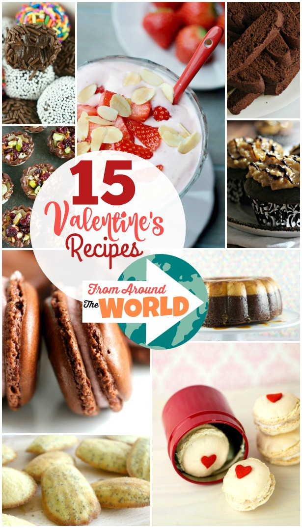 15 Valentine's Cookie and Dessert Recipes from Around the World