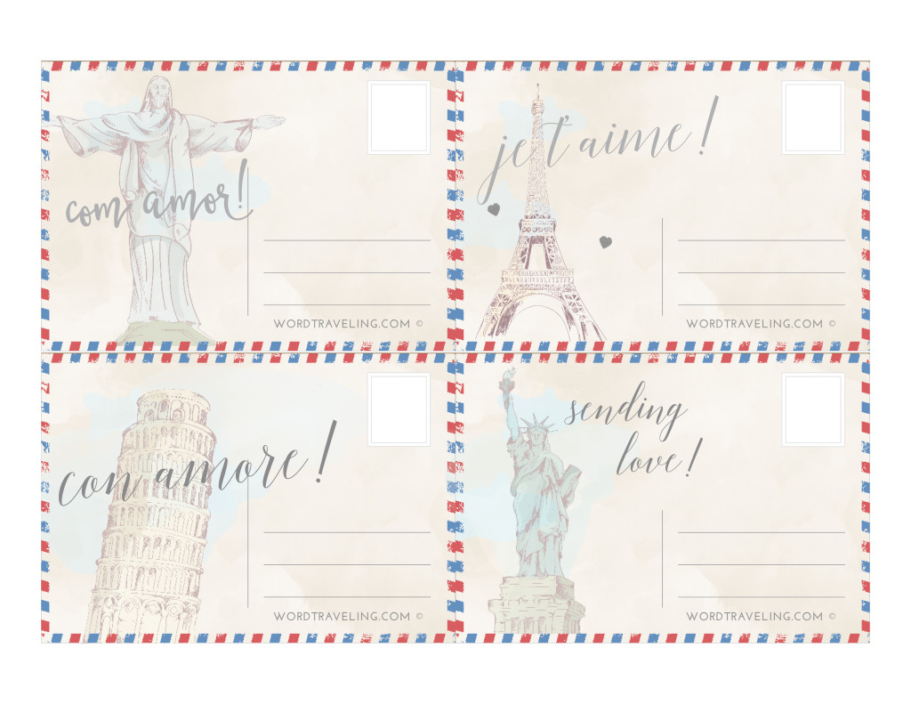 FREE Vintage Printable Postcards