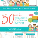 50 Tips for Surviving a Homeschool Convention or Conference plus bonus travel journal