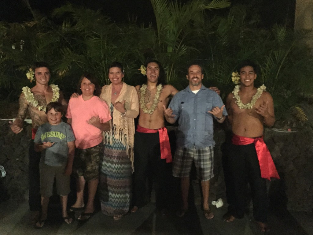 luau- family vacation at Hilton Waikoloa Village Big Island