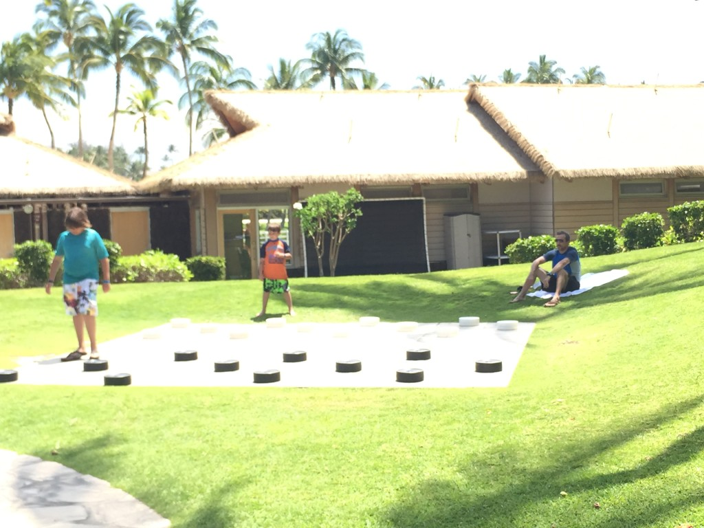 lawn checkers- Hilton Waikoloa, Big Island