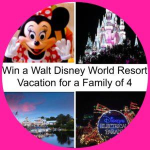 WIN a Walt Disney World Family Vacation! (Through May 20)