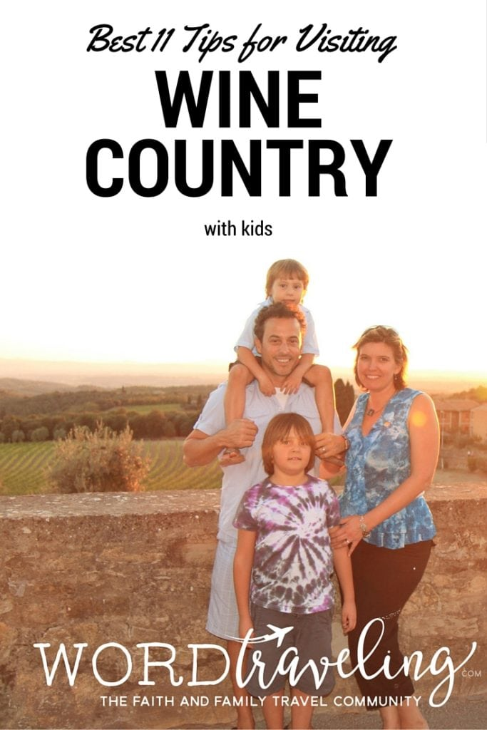 tips for visiting wine country with children