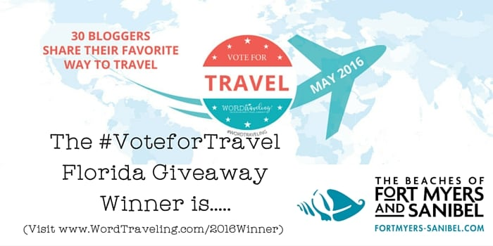 #VoteforTravel Florida giveaway winner