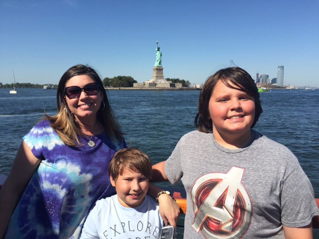 family statue of liberty cruise new york city