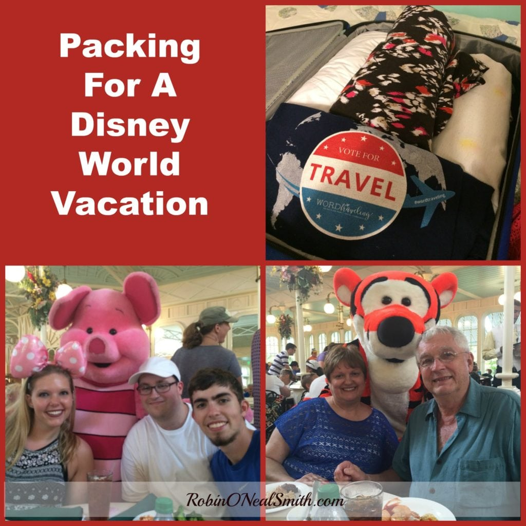 Packing for Disney World Vacation