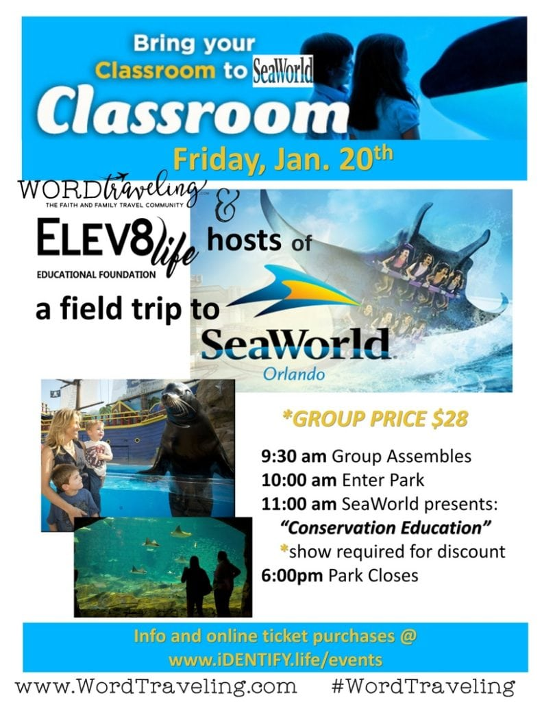 sea world educational field trip discount january 2017