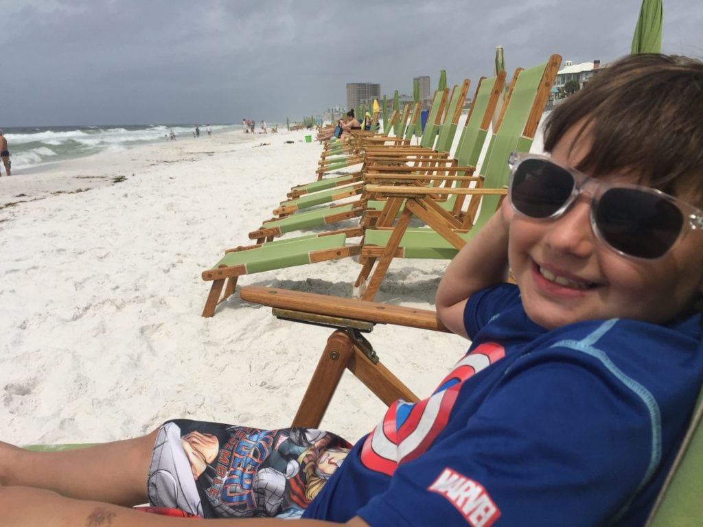 relaxing on the beach in Fort Walton