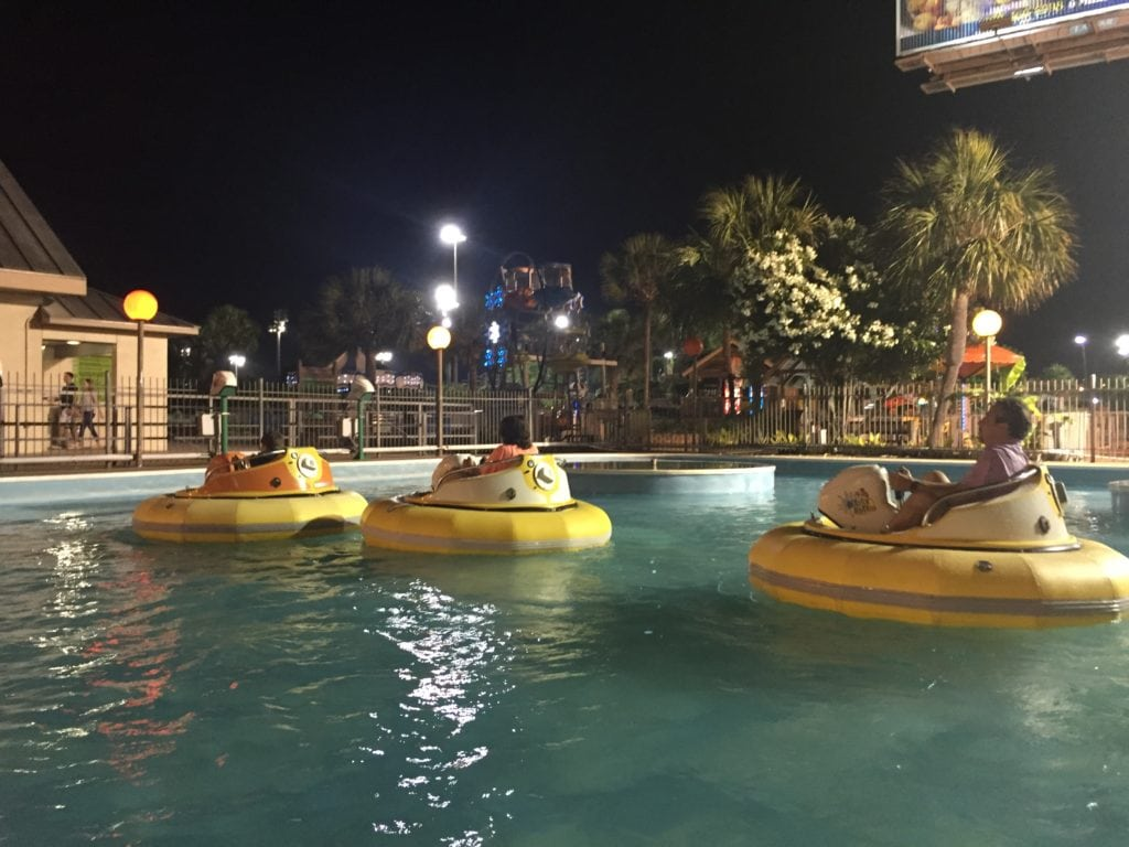 bumper boats at the track in Destin