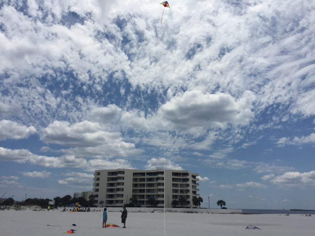 kite flying in Destin, Florida