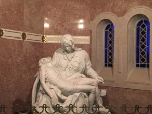 Replica of Michelangelo's Pieta