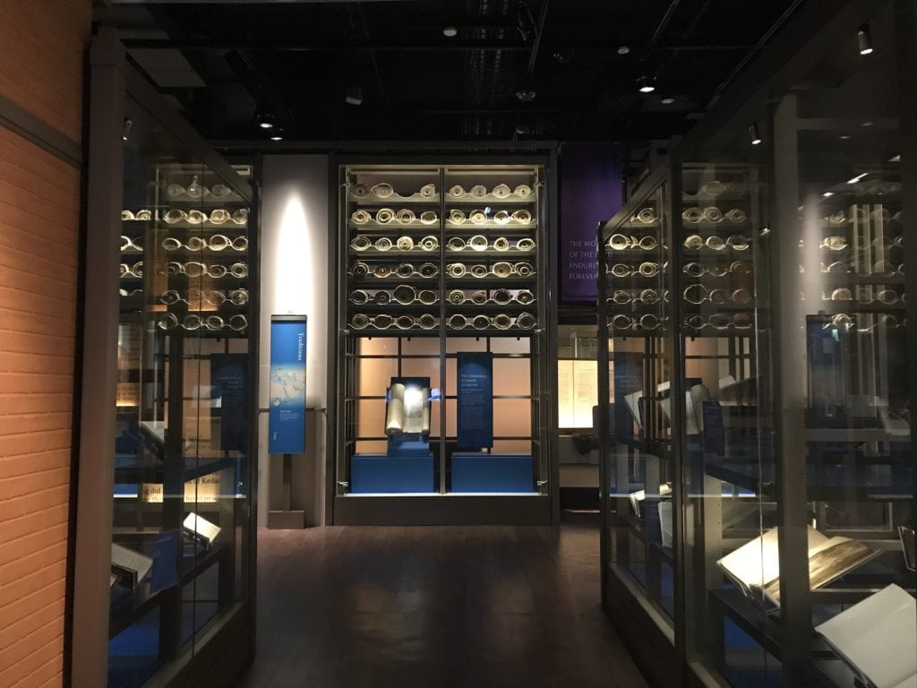 History Room at the Museum of the Bible