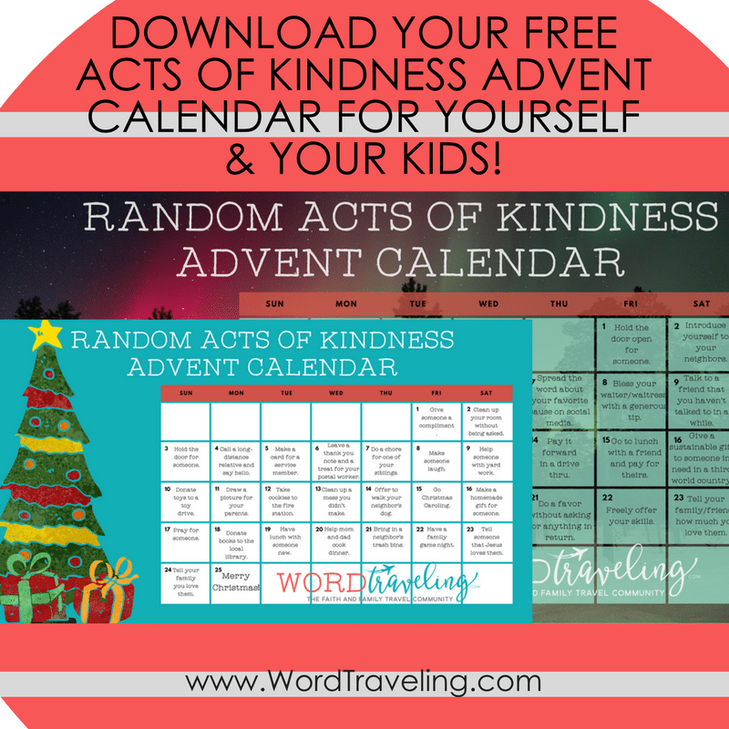 Random Acts Of Kindness Advent Calendar Word Traveling