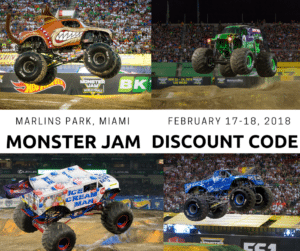Monster Jam at Marlins Park- February 17-18- Discount Code