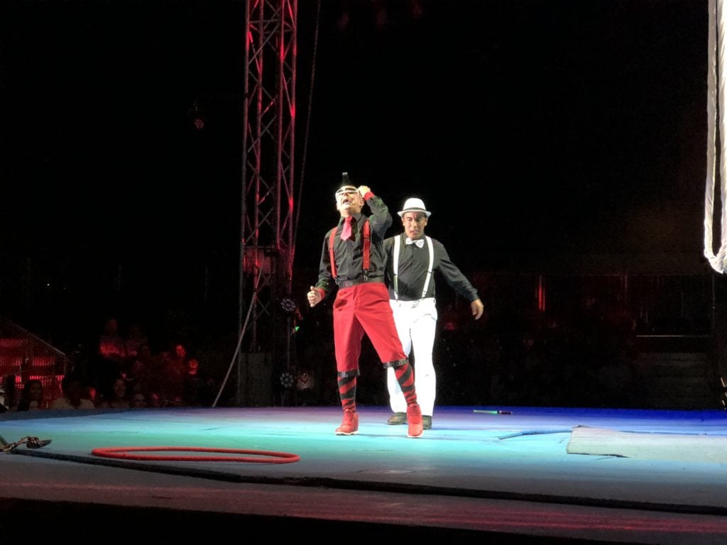 clowns at Cirque Italia