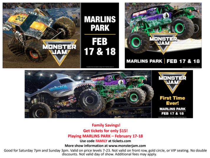 Monster Jam Miami Discount Code