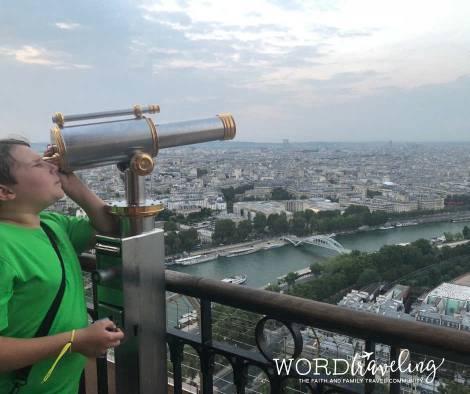 Word Traveling telescopes on Eiffel Tower